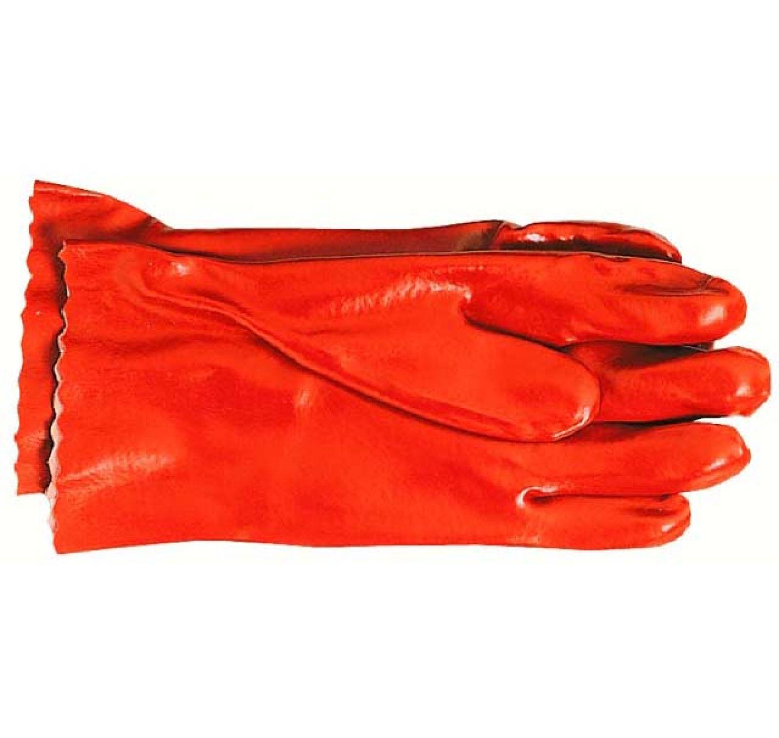 Werkhandschoen Pvc Rood Lang 27cm Op=op