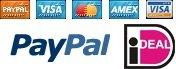 Betalen is mogelijk via iDeal, PayPal en creditcards!